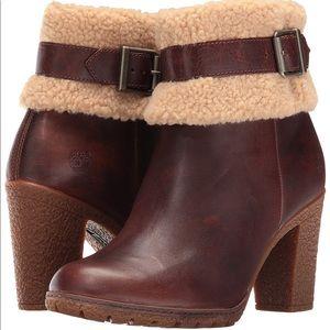 TIMBERLAND Glancy teddy dark brown ortholite boots